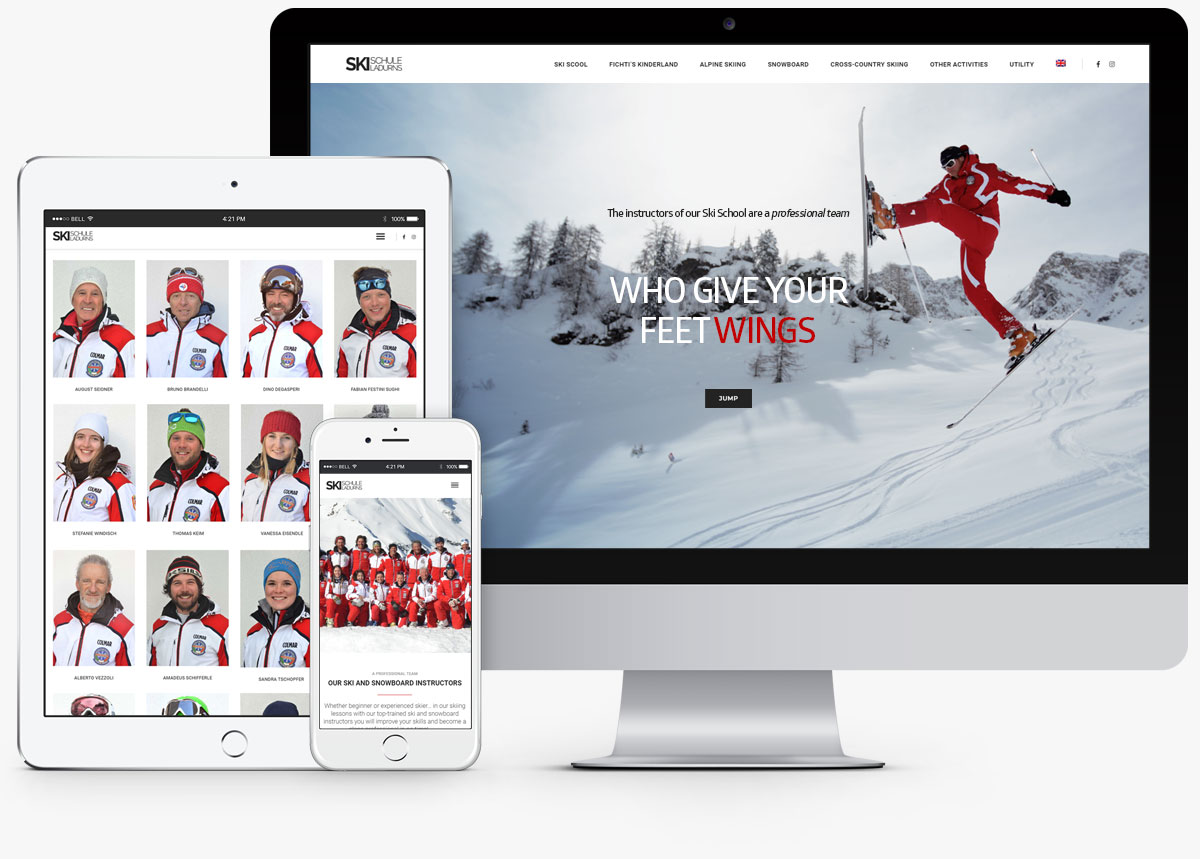 Ski Schule Ladurns Gossensass Website wordpress