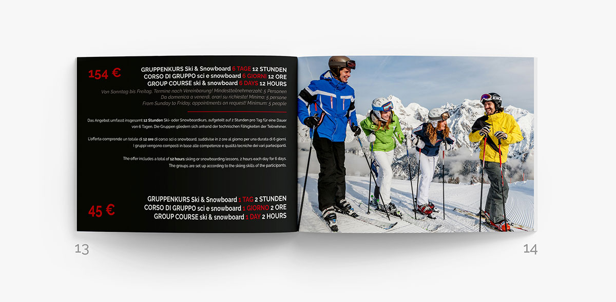ski school ladurns brochure